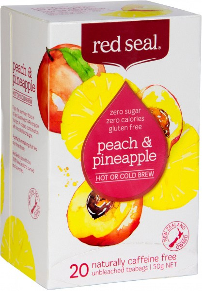 Red Seal (Hot & Cold Brew) Peach & Pineapple 20Teabags
