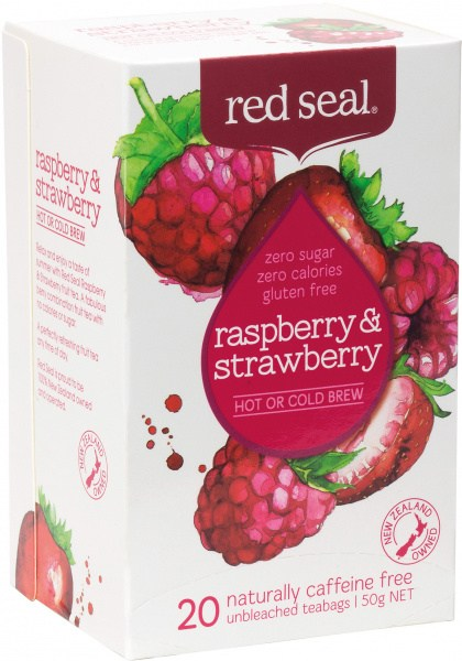 Red Seal (Hot & Cold Brew) Raspberry & Strawberry 20Teabags