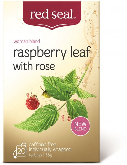 Red Seal Raspberry Leaf Tea with Rose 20Teabags