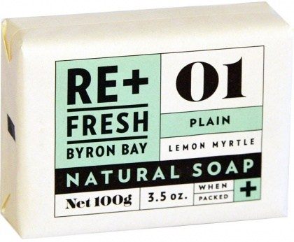 ReFresh Byron Bay 01 Lemon Myrtle Soap Plain Boxed (with POS display tray)11x100g