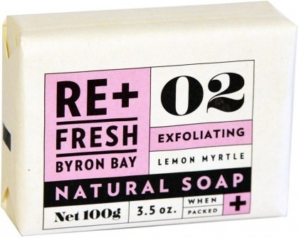 ReFresh Byron Bay 02 Lemon Myrtle Soap Exfoliant Boxed (with POS display tray) 11x100g