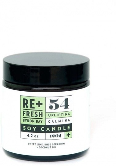 ReFresh Byron Bay 54 Uplifting Calming Soy Candle 120g