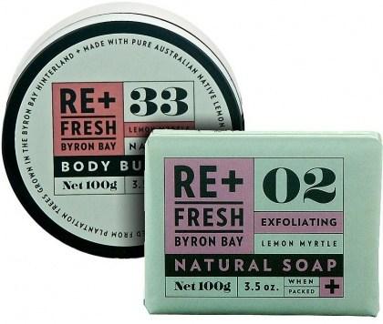 ReFresh Byron Bay Lemon Myrtle BdyButter+ExfoliateSoap
