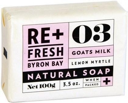 ReFresh Byron Bay Lemon Myrtle Soap Goats Milk Bxd 11x100g