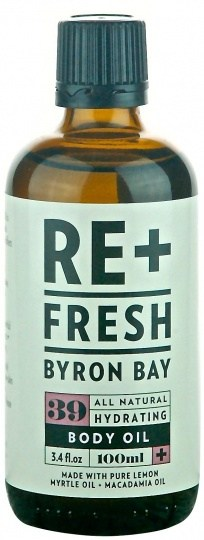 ReFresh Byron Bay Macadamia/Lemon Myrtle Massage Oil 100ml