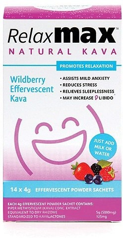 RelaxMax Kava Wildberry Effervescent Powder 14x4g