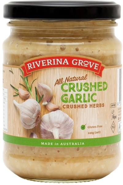 Riverina Grove Crushed Garlic  240g