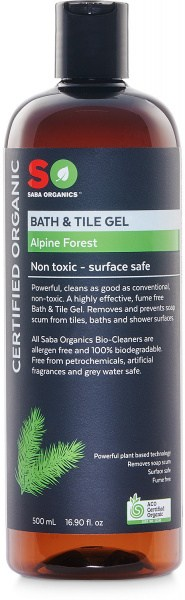Saba Organics Bath & Tile Gel Alpine Forest 500ml