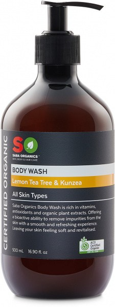 Saba Organics Body Wash Lemon Tea Tree & Kunzea 500ml