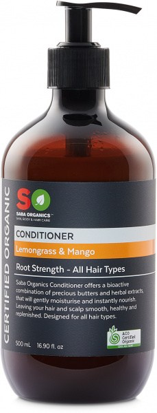 Saba Organics Conditioner Lemongrass & Mango 500ml NOV22