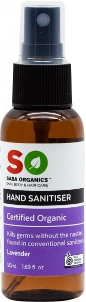 Saba Organics Hand Sanitiser Lavender Spray 50ml