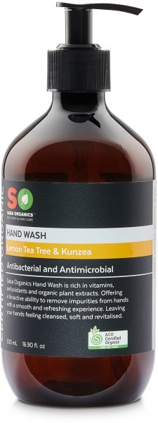 Saba Organics Hand Wash Lemon Tea Tree & Kunzea 500ml
