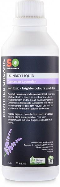 Saba Organics Laundry Liquid Tasmanian Lavender 1L