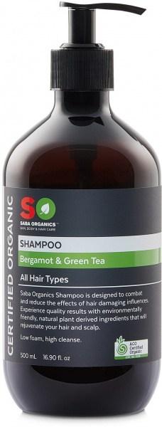 Saba Organics Shampoo Bergamot & Green Tea 500ml
