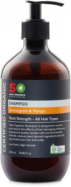 Saba Organics Shampoo Lemongrass & Mango 500ml
