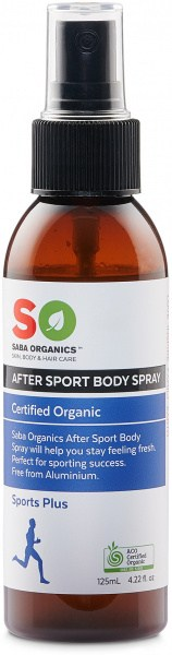 Saba Organics Sports Plus After Sport Body Spray 125ml