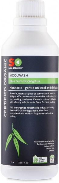 Saba Organics Wool Wash Blue Gum Eucalyptus 1L
