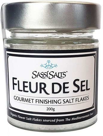 Sassi Salts Fleur de Sel Gourmet Finishing Salt Flakes 200g