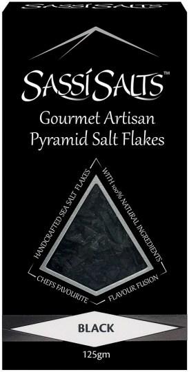 Sassi Salts Gourmet Artisan Pyramid Salts Black 125g