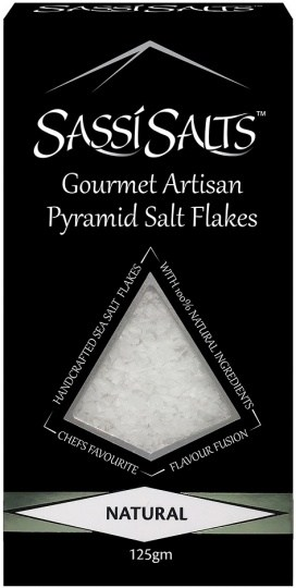 Sassi Salts Gourmet Artisan Pyramid Salts Natural 125g