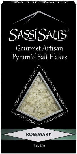 Sassi Salts Gourmet Artisan Pyramid Salts Rosemary 125g