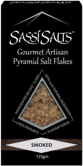 Sassi Salts Gourmet Artisan Pyramid Salts Smoked 125g