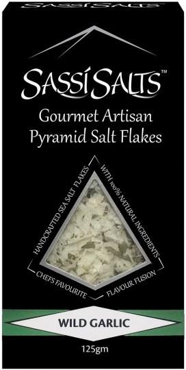 Sassi Salts Gourmet Artisan Pyramid Salts Wild Garlic 125g