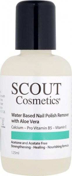 Scout Cosmetics Water Based Nail Polish Remover with Aloe Vera & Vitamin C Vegan 125ml
