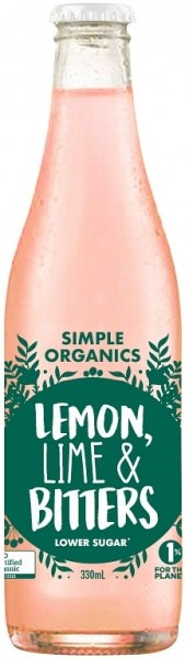 Simple Organic Sodas Lemon Lime Bitters 12x330ml