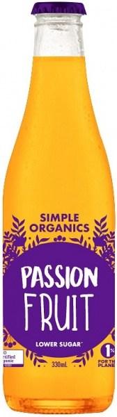 Simple Organic Sodas Passionfruit 12x330ml