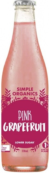 Simple Organic Sodas Pink Grapefruit 12x330ml