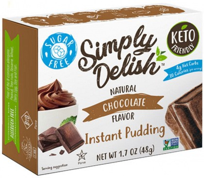 Simply Delish Chocolate Natural Pudding & Pie Filling  48g