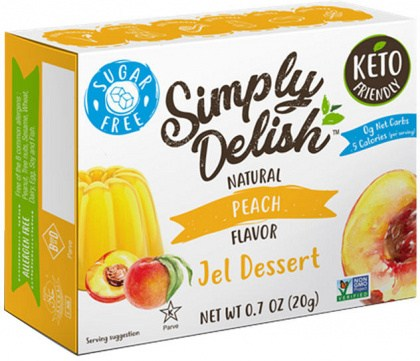 Simply Delish Peach Jel Dessert  20g