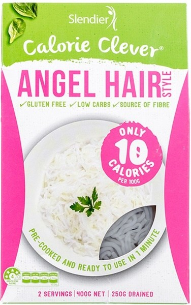 Slendier Pasta Angel Hair Gluten Free 12x400g