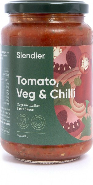 Slendier Tomato, Vegetable & Chilli Ragu Italian Style Sauce 340g