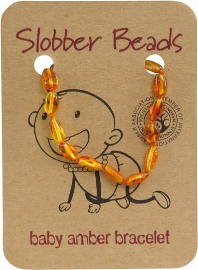 Slobber Beads Baby Honey Oval Bracelet