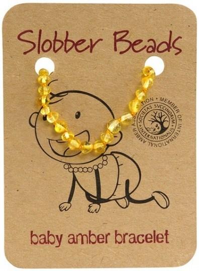Slobber Beads Baby Lemon Round Bracelet
