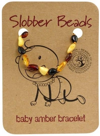 Slobber Beads Baby Multi Oval Bracelet