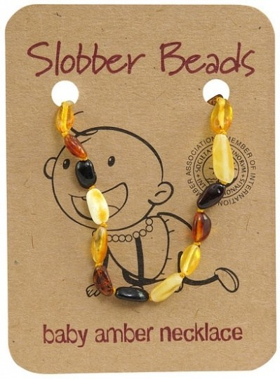 Slobber Beads Baby Multi Oval Necklace
