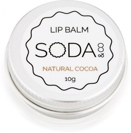 SODA & Co Natural Cocoa Lip Balm 10g