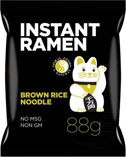 Spiral Instant Ramen Brown Rice Noodle 88g