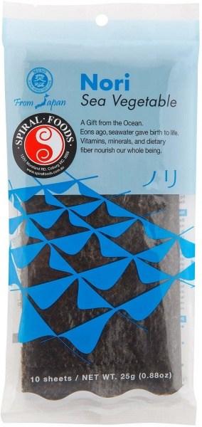 Spiral Nori Sea Vegetable (10 Sheets)  25g