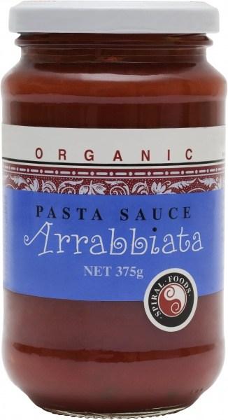 Spiral Organic Arrabbiata Sauce  Glass 375g
