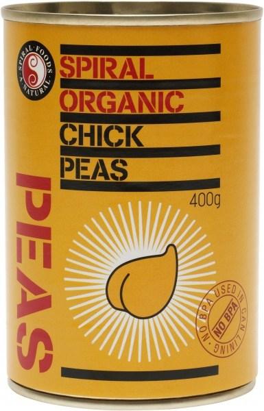 Spiral Organic Chickpeas  400g