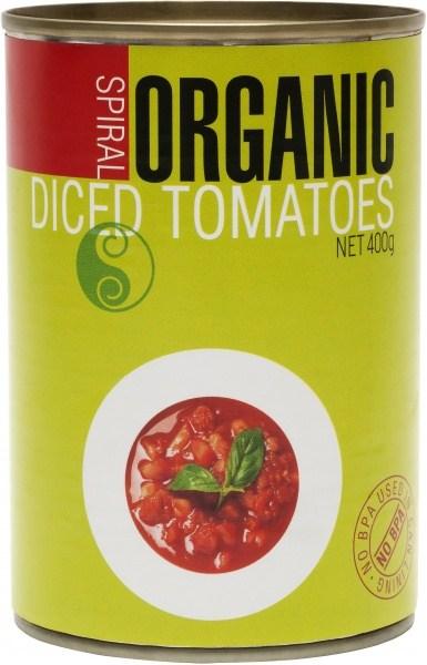 Spiral Organic Diced Tomato  400g