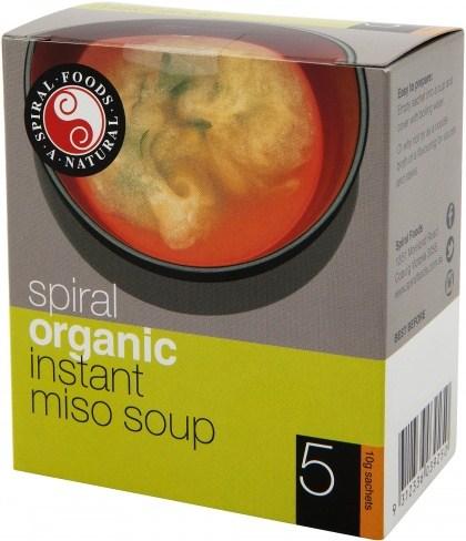 Spiral Organic Instant Miso Soup 5x10g Sachets