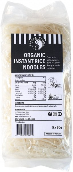 Spiral Organic Instant Rice Noodles  5x60g