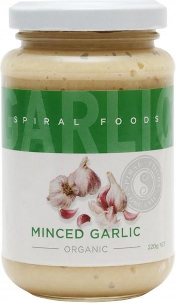 Spiral Organic Minced Garlic  Glass 220g