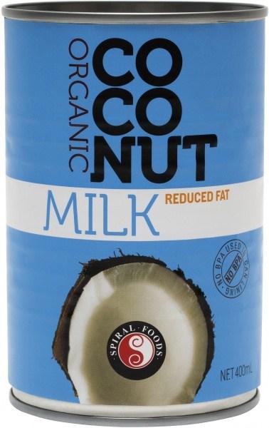 Spiral Organic Reduced Fat Coconut Milk  400ml
