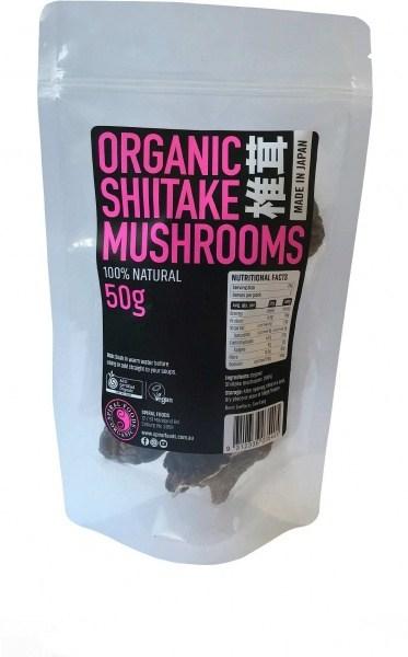 Spiral Organic Shiitake Mushrooms  50g